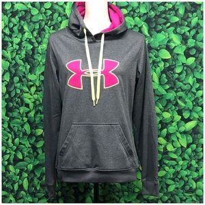 Under Armour grey/pink hoodie